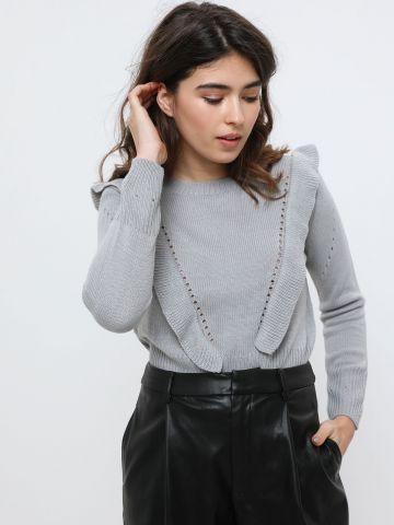סוודר עם עיטורי מלמלה