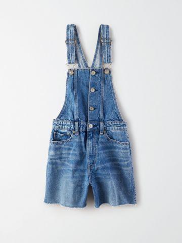 אוברול ג'ינס קצר בגזרה Mom / נשים