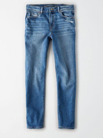 מכנסי ג'ינס ארוכים בגזרת Mom / נשים