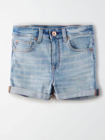 ג'ינס קצר בגזרה גבוהה / נשים