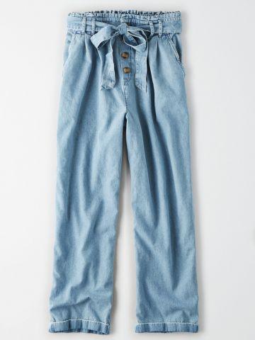 ג'ינס פייפרבאג עם חגורת קשירה / נשים