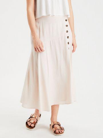 חצאית מידי עם כפתורים מעוצבים