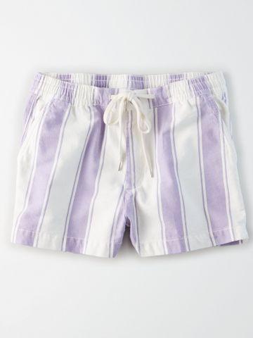 מכנסיים קצרים בהדפס פסים / נשים