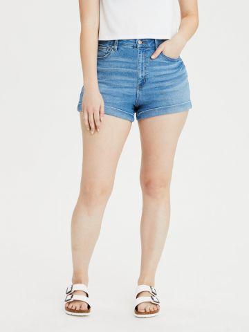 ג'ינס קצר עם קיפול של AMERICAN EAGLE