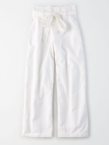 מכנסי פייפרבאג רחבים / נשים