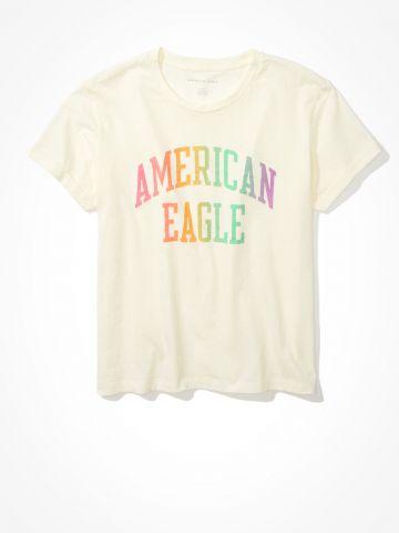 טי שירט עם הדפס לוגו מולטי קולור / נשים של AMERICAN EAGLE