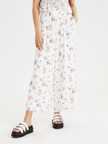 מכנסיים רחבים בהדפס פרחים