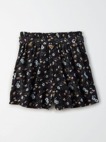 מכנסי פייפרבאג קצרים בהדפס פרחים / נשים של AMERICAN EAGLE
