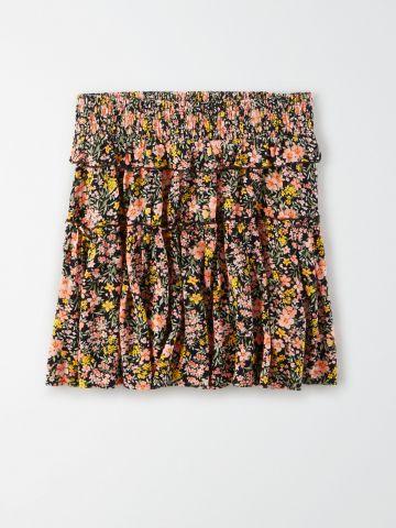 חצאית קומות בהדפס פרחים / נשים