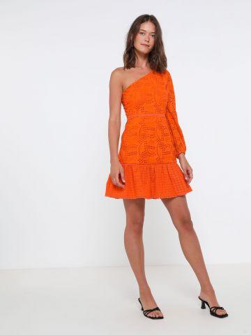 שמלת מיני רקמה וואן שולדר