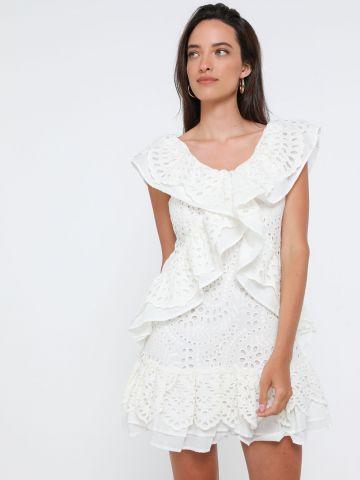 שמלת מיני מלמלה עם רקמה
