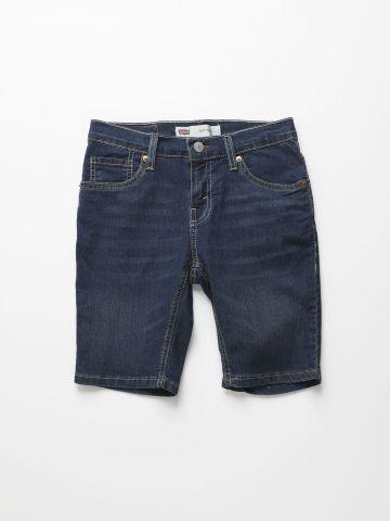 ג'ינס ברמודה בשטיפה כהה Slim/ בנים