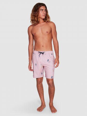 מכנסי בגד ים בהדפס איורים