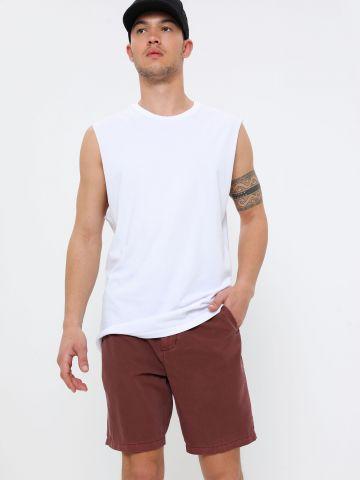 מכנסי ווש קצרים עם כיסים