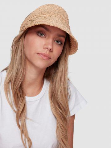 כובע מצחייה קש ללא ראש