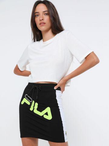 חצאית מיני עם לוגו ניאון