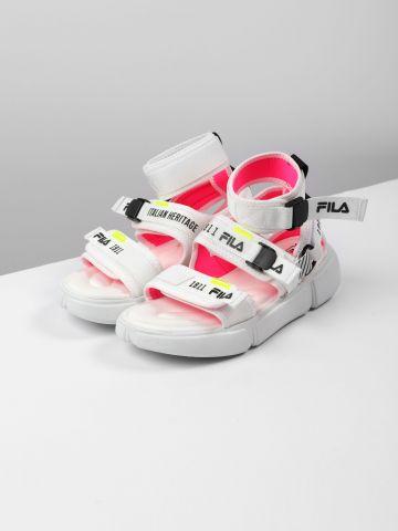 סנדלים עם רצועות לוגו ואבזמים / נשים של FILA