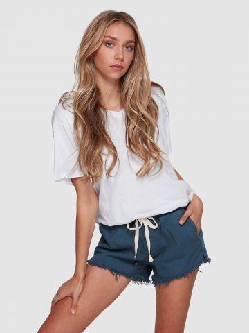 מכנסיים קצרים עם גומי ושרוך