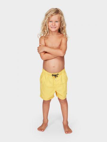 מכנסי בגד ים עם פאץ' לוגו / 0-8Y