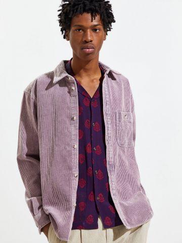 חולצת קורדרוי מכופתרת UO