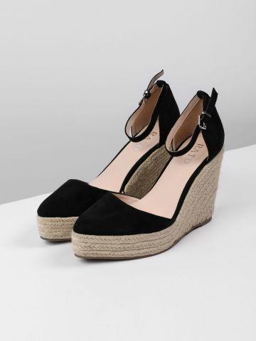 נעלי פלטפורמה דמוי זמש