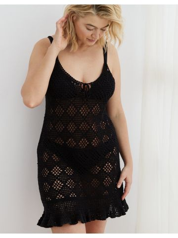 שמלת מיני בדוגמת חירורים מעויינים