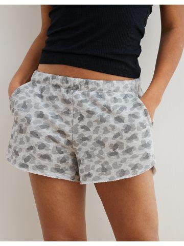 מכנסי טרנינג קצרים בהדפס חברבורות