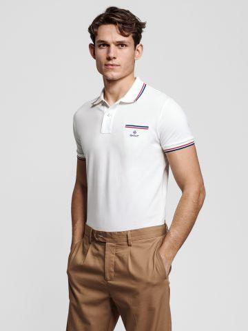 חולצת פולו עם כיס ולוגו