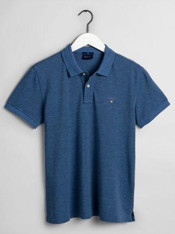 חולצת פולו עם רקמת לוגו Slim / גברים
