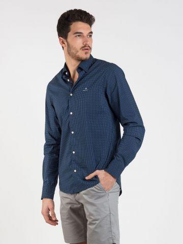 חולצה מכופתרת בהדפס נקודות Slim של GANT