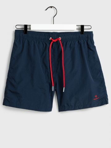 מכנסי בגד ים קצרים עם לוגו / גברים
