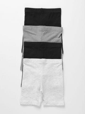 מארז 4 מכנסי טייץ קצרים / 3M-3Y