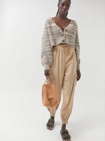 מכנסי טרנינג פשתן עם כיסים UO