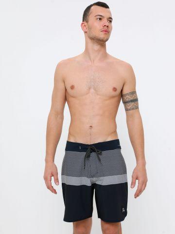 מכנסי בגד ים קולור בלוק פסים