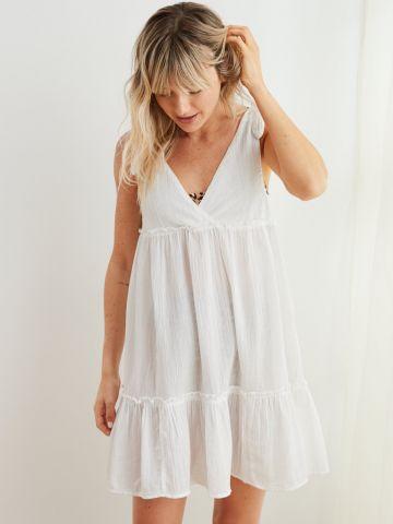 שמלת מיני קומות עם כתפיות קשירה של AERIE