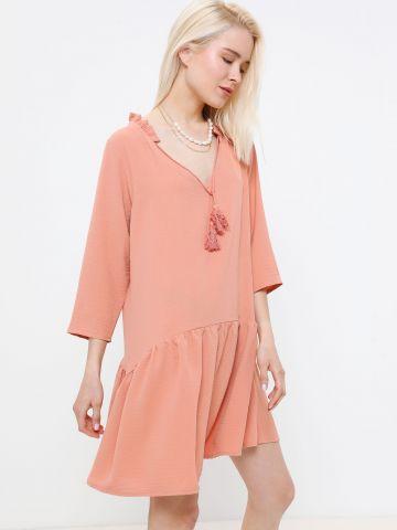 שמלת מיני פפלום וי