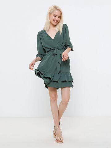 שמלת מיני עם חגורה