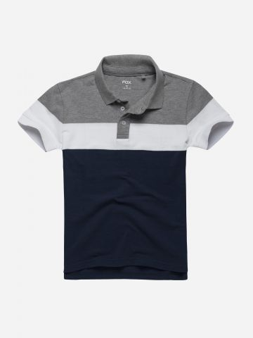 חולצת פולו קולור בלוק / בנים