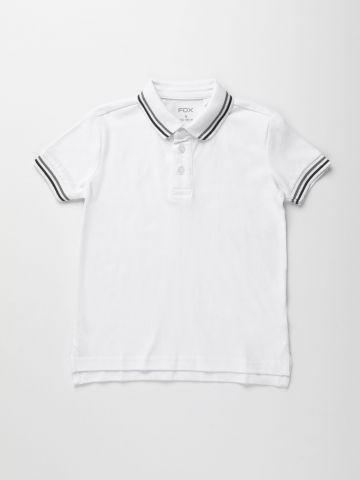 חולצת פולו עם שוליים בדוגמת פסים / בנים