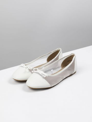 נעלי בובה בשילוב רשת / בנות