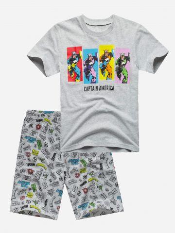 סט פיג'מה קפטן אמריקה / בנים