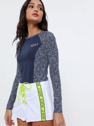 חולצת גלישה עם לוגו בהדפס נקודות