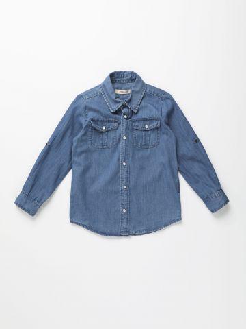 חולצת ג'ינס מכופתרת / ילדים