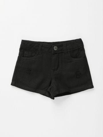 מכנסי ג'ינס קצרים עם קרעים / בנות של FOX