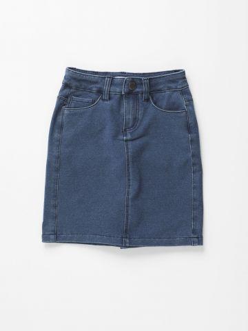 חצאית מיני דמוי ג'ינס / בנות