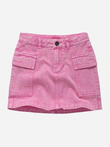 חצאית ג'ינס מיני אסיד ווש / בנות