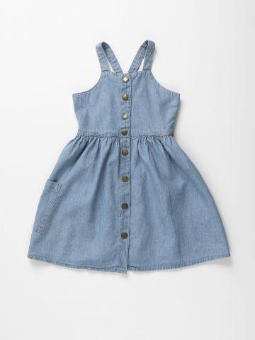 שמלת ג'ינס מיני מכופתרת / בנות