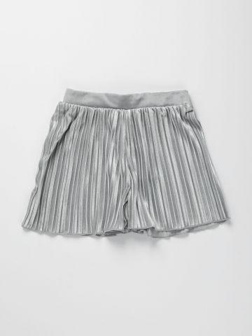 מכנסי פליסה קצרים / בנות