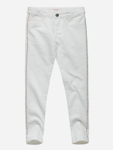 מכנסי ג'ינס עם סטריפ אבנים / בנות