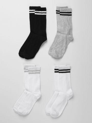 מארז 4 זוגות גרביים גבוהים  / בנים